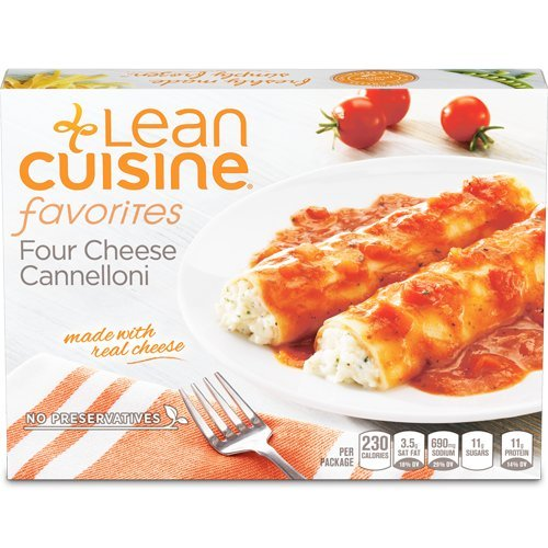 Lean Cuisine Four Cheese Cannelloni 9.125 oz, Pack of 12