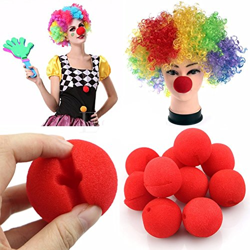 Appropriative Costume (10pcs Clown Nose Foam Circus Carnival Party Supplies Cosplay Costumes Tools Party Trick Toys)