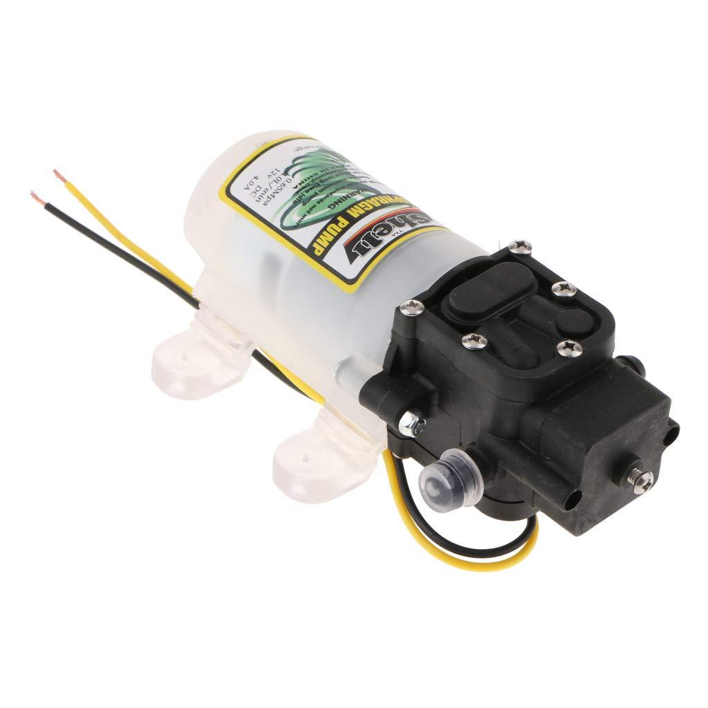 MagiDeal 12V 30W 2L/min 4bar Diaphragm High Pressure Pump Self-priming Anti-Corrosion