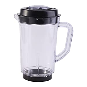 Juicer Blender Pitcher 1000ML Juicer Mixer Pitcher Plastic Water Milk Cup Holder Transparent Household Kitchen Instrument Replacement for Magic Bullet