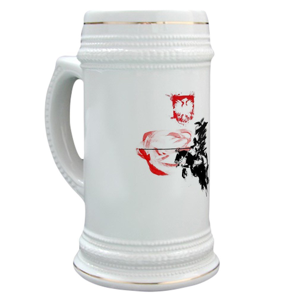 CafePress - Polish Hussar - Beer Stein, 22 oz. Ceramic Drinking Mug