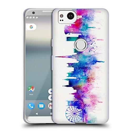 Official Ali Chris White Cityscape Watercolour Map Collection Soft Gel Case for Google Pixel ()