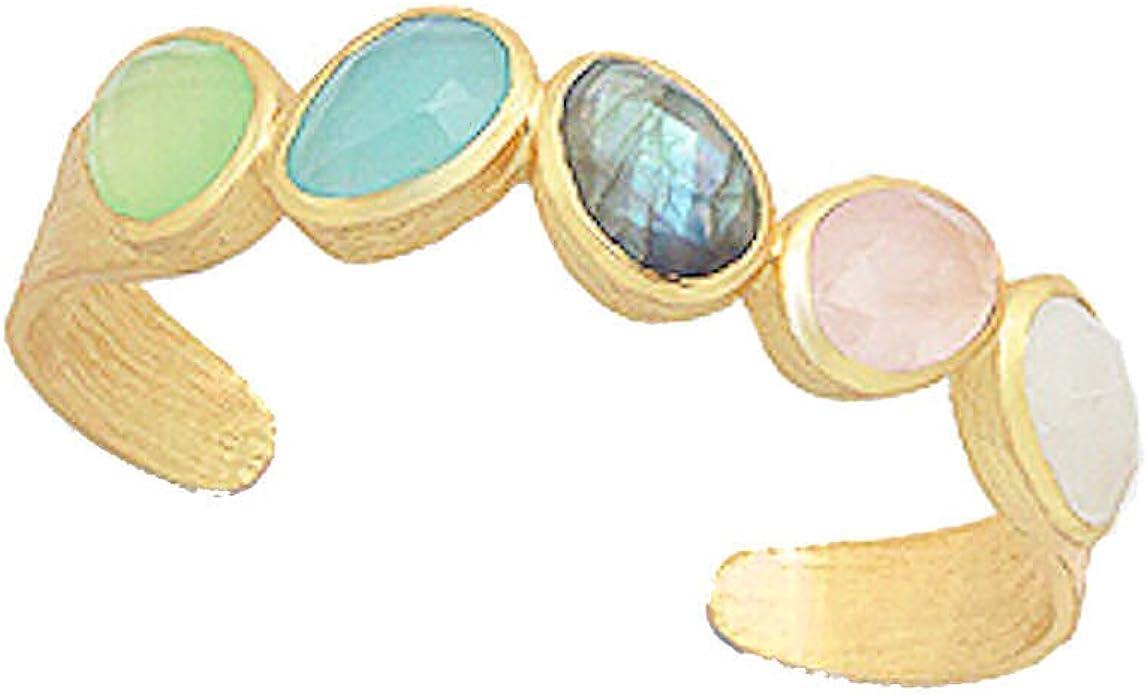 Gold and Labradorite-plated cuff