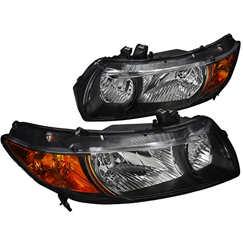 Spec-D Tuning 2LH-CV062JM-RS Black Headlight (Euro Housing) ()