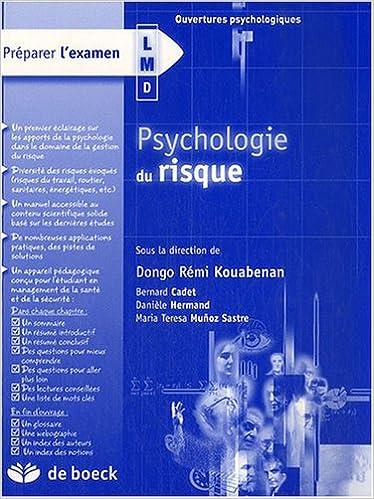 Livre gratuits Psychologie du risque pdf