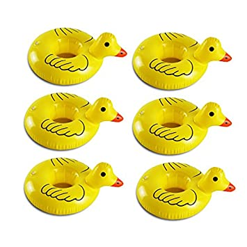 Juego de 6 vasos inflables de pato amarillo flotantes para ...