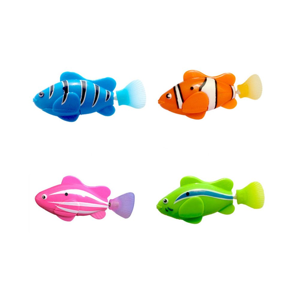 SAVEMORE4U18 Swimming Robot Fish Water Activated Magical Electronic Pets Toy for Kids Children Battery Operated Fish 4PCS