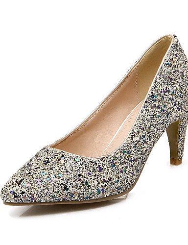 GGX/Damen Spitz geschlossen Zehen Pull auf Blend Materialien massivem High Heels pumps-shoes black-us9 / eu40 / uk7 / cn41