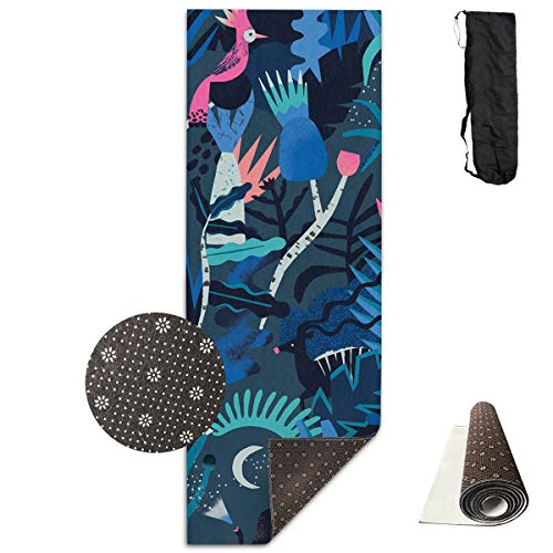 Jessent Yoga Mat Non Slip Natasha 24 X 71 Inches Premium Fitness Exercise Pilates Carrying Strap ()