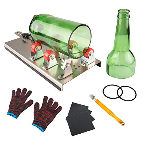 Glass Bottle Cutter, VIBIRIT Glass Cutting Tools with Accessories, DIY Wine Bottle Cutter Machine for Cutting Round or Square Glass Bottles (Cutting Glass Tools)