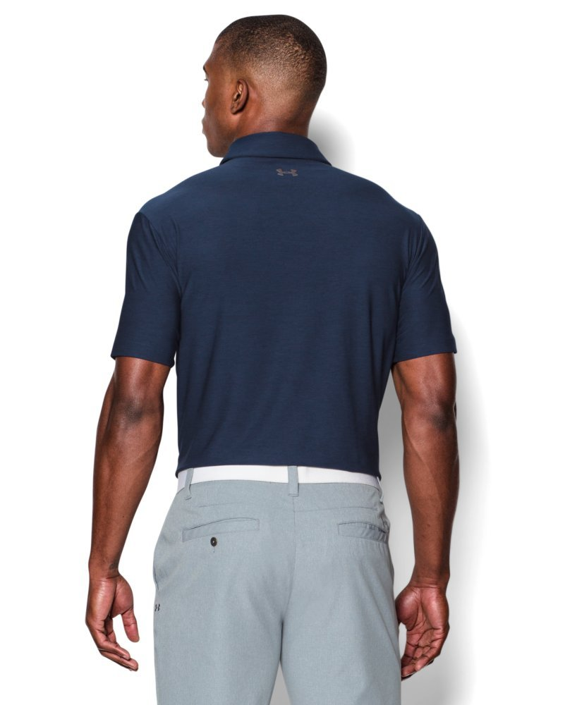 Under Armour Men's Playoff Polo, Academy (408)/Graphite, Small by Under Armour (Image #2)