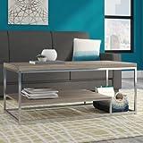 Corona Two Shelf Wood & Metal Coffee Table in Grey/Brown Finish
