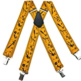 Gold - Black Mens Contractors Yardstick Suspender Made in USA
