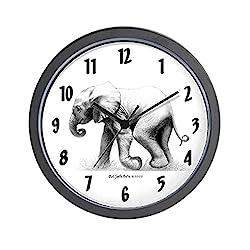 CafePress Baby Elephant Unique Decorative 10 Wall Clock