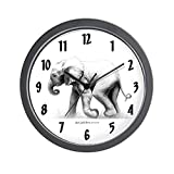 CafePress – Baby Elephant – Unique Decorative 10″ Wall Clock For Sale
