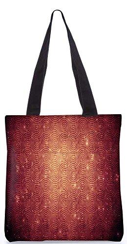 """Snoogg Abstrakte Kreise Muster-Einkaufstasche 13,5 X 15 In """"Einkaufstasche Dienstprogramm Trage Aus Polyester Leinwand"""