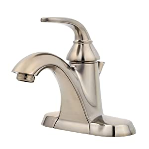 Pfister LF042PDKK Pasadena Single Control 4 Inch Centerset Bathroom Faucet in Brushed Nickel