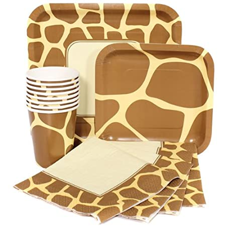Giraffe Print Birthday Party Pack Sets (Paper Plates Napkins Cups)  sc 1 st  Amazon UK & Giraffe Print Birthday Party Pack Sets (Paper Plates Napkins Cups ...