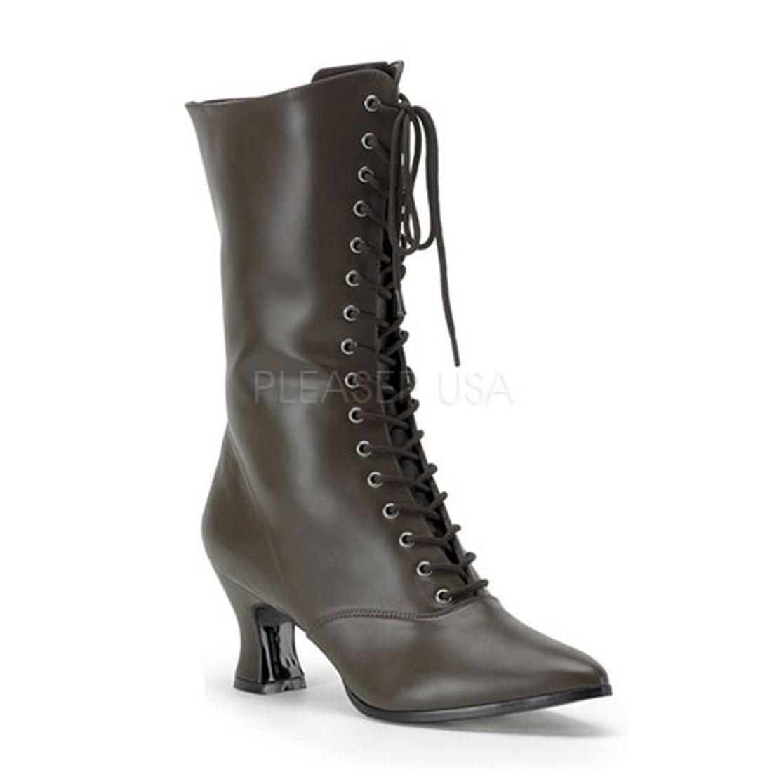 Victorian Granny Boot 2 3/4 Inch Heel w Side Zipper 120 B003TTD7AY 8 B(M) US|Brown