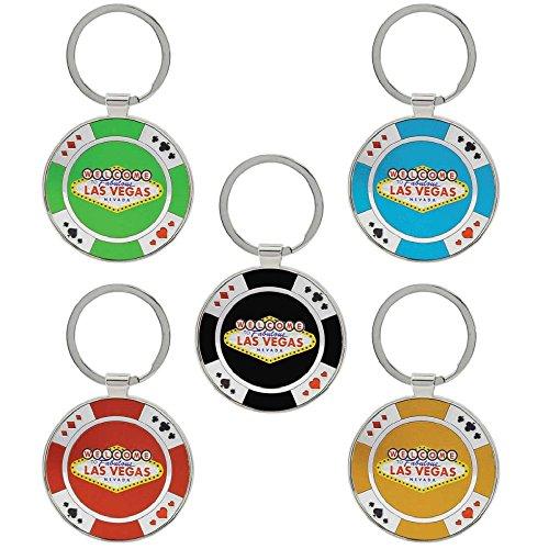 Keychain Las Vegas Casino Poker Chip Key Chains - Pack of (Poker Key)
