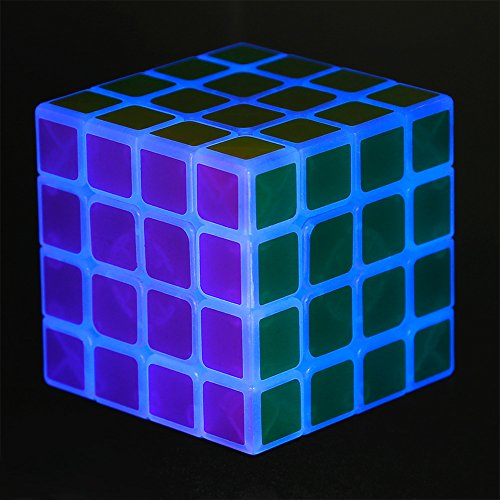 Twister.CK 4x4x4 Luminous Magic Speed Cube Professional Magico Speed Cube Kids Toy Learning Educational Children Toys Glow In The Dark Cube