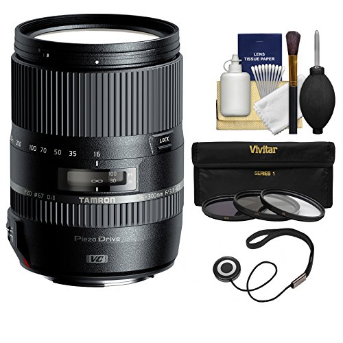 Price comparison product image Tamron 16-300mm f / 3.5-6.3 Di II VC PZD Macro Zoom Lens (BIM) with UV / CPL / ND8 Filters + Kit for Nikon Digital SLR Cameras