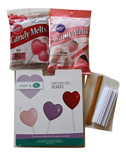 Valentine Heart Lollipop Making Bundle - Heart Candy Mold...