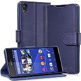 Vena Sony Xperia Z3+ / Z4 Wallet Case [vSuit] Draw Bench PU Leather Snap Case Cover with [Card Pockets] for Sony Xperia Z3+ / Z4 (Oxford Blue)