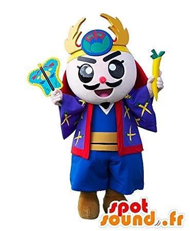 Amazon.com: gosamaru Mascot Samurai, vestido azul, amarillo ...