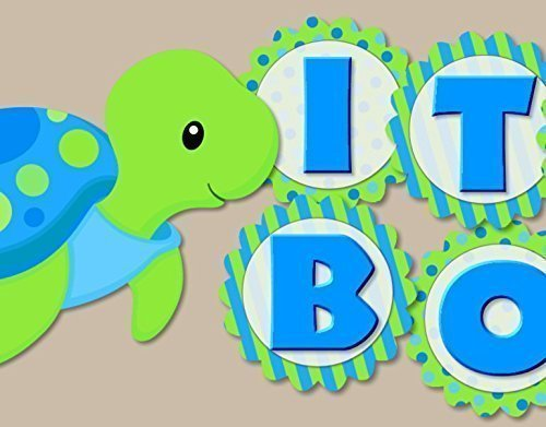 Turtle Baby Shower Decoration for Boy -