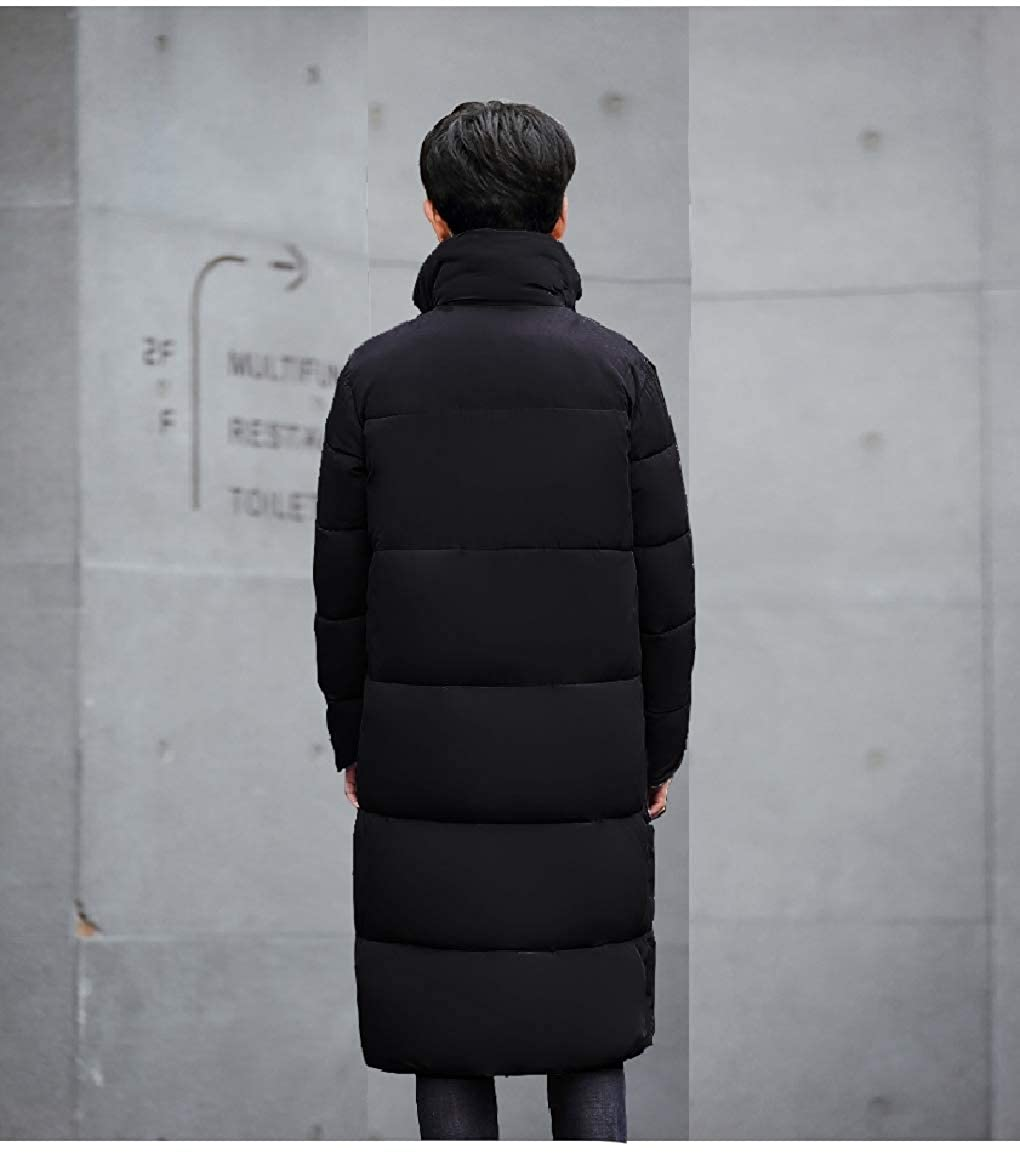 RomantcMen Thicken Md-Long SolidCotton Over Sized Thick Coat