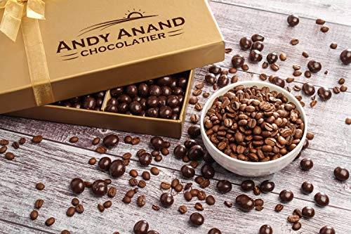 Andy Anand's California Dark Chocolate Covered Espresso Coffee Beans 1 lbs, for Birthday, Valentine Day, Gourmet Christmas Holiday Food Gift Basket, Thanksgiving, Mothers Fathers Day, Get Well Gift