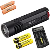 Bundle: Nitecore EC4S 2150 Lumens CREE XHP50 LED Flashlight with 2x Nitecore 18650 Batteries and UM20 Charger with 2x Skyben Battery Case