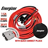 Energizer 1-Gauge 800A Permanent Installation kit Jumper Battery Cables with Quick Connect Plug 30 Ft Booster Jump Start ENB-130-30' Allows You to Boost a Battery from Behind a Vehicle!