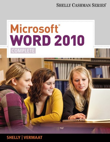 Microsoft Word 2010: Complete (SAM 2010 Compatible Products) Pdf
