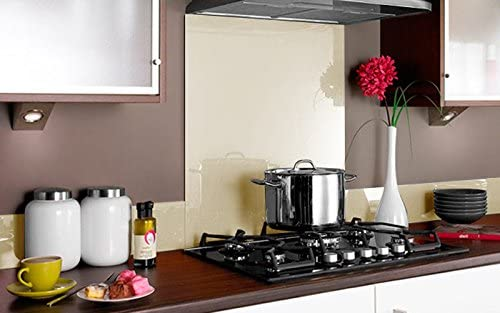 Compra Vidriopanel Panel DE Vidrio A Medida Cocina/Cristal de Protección Salpicaduras para frentes de cocinas (Fabricado A Medida, Agua Marina) en Amazon.es