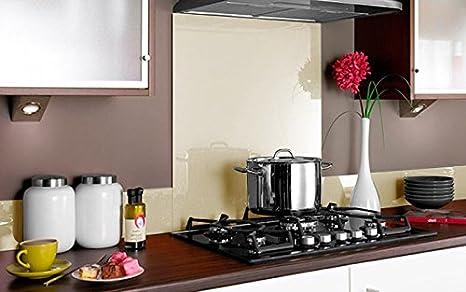 Compra Vidriopanel Panel DE Vidrio A Medida Cocina/Cristal de Protección Salpicaduras para frentes de cocinas (Fabricado A Medida, Naranja) en Amazon.es