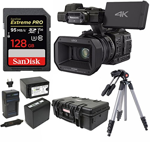 Panasonic HC-X1000 4K 24p Cinema Camcorder w/ 128GB SD & Hard Case Bundle by Panasonic