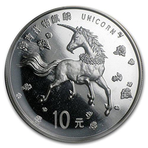 (1997 CN China 1 oz Silver 10 Yuan Unicorn BU (Sealed) 1 OZ Brilliant Uncirculated)
