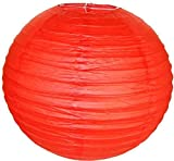 Perfectmaze 12 Piece 6'' (Inch) Round Chinese Paper Lantern for Wedding Party Engagement Decoration_Red