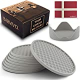 Barvivo Drink Coasters Set of 8 /w Holder