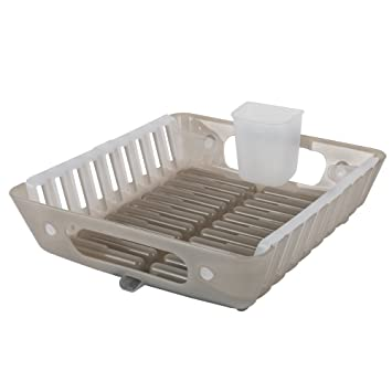 1d3cd57a4b0b Plastic Polypropylene Flip Dish Dryer Rack Tray by Casabella - Gray/White:  Amazon.ca: Home & Kitchen