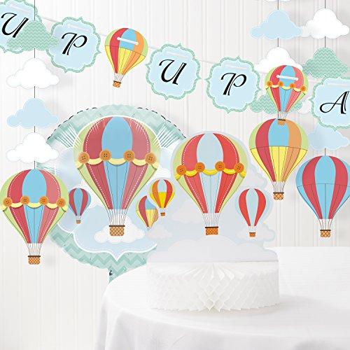 Up, Up, and Away Hot Air Balloon Baby Shower Decorations -