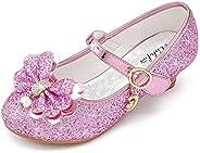 Walofou Sparkle Cute Shoes Toddler Little Kids Big Girl Princess Party Wedding Dress Girls Shoes