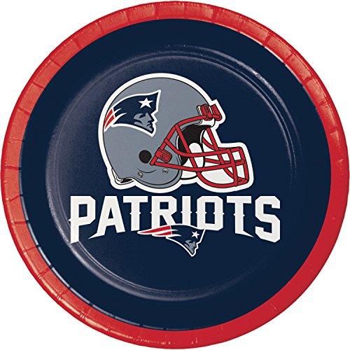 New England Patriots Dessert Plates, 24 ct