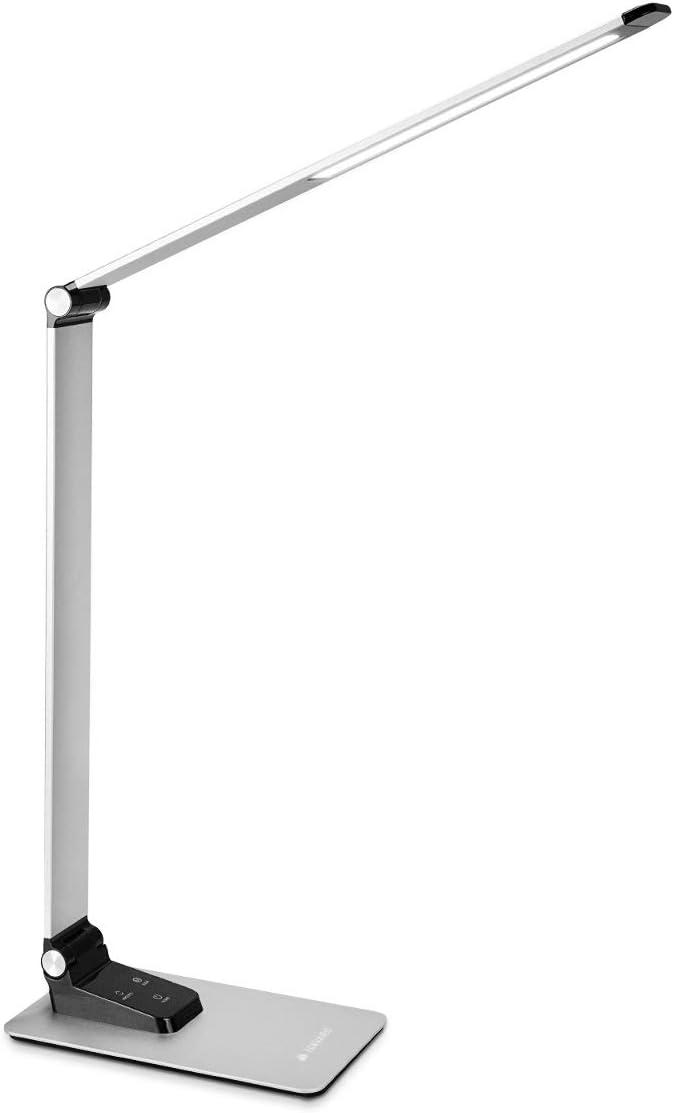 Navaris Lámpara LED de escritorio - Luz plegable de aluminio con ...