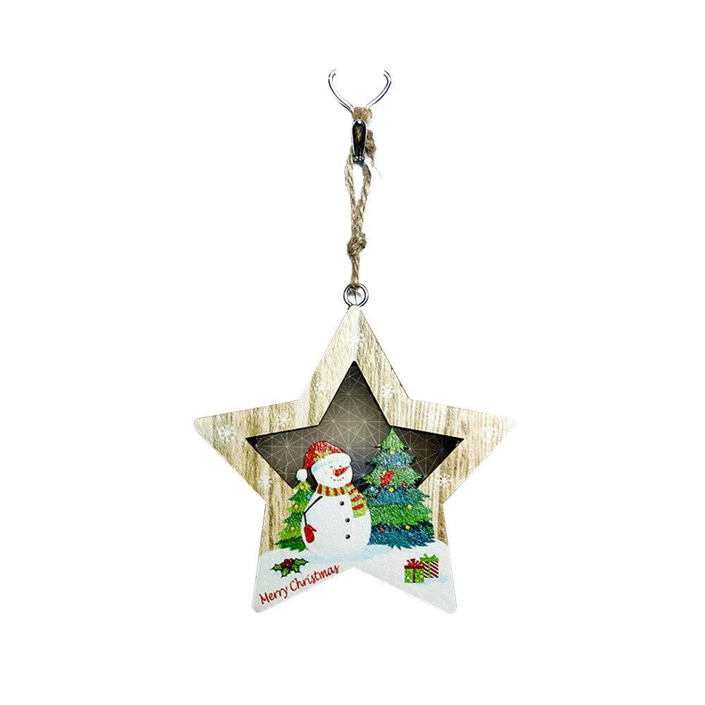 Christmas Light,JDgoods Wooden Decorative Light Board Christmas Light Festival Party Decoration Ornament (A)