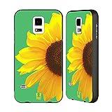 Head Case Designs Yellow Delight Sunflower Black Aluminum Bumper Slider Case for Samsung Galaxy Grand Prime