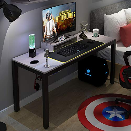 Need Gaming Desk All-in-one Gaming Computer Desk with RGB LED Soft Gaming Mouse Pad 60' Length for Big Guys AC14LB-Pro