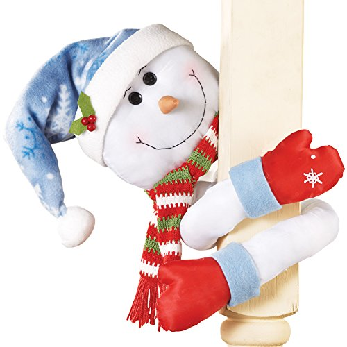 - Collections Etc. Lovable Winter Snowman Christmas Tree Hugger Decoration with Posable Arms